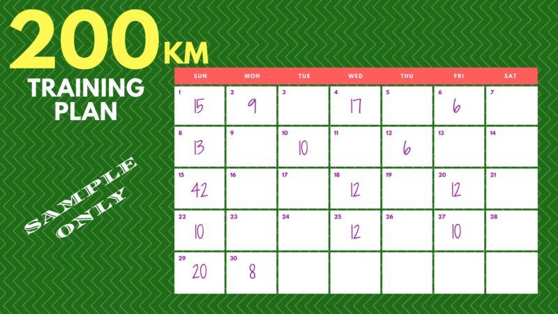 200KM Training Plan Actual Runner 2
