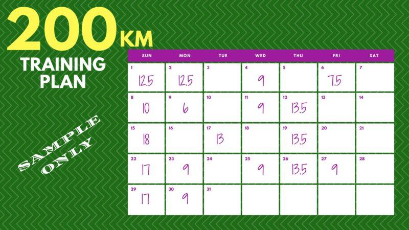 200KM Training Plan Actual Runner 1