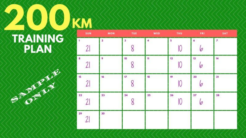 200KM Training Plan Sample