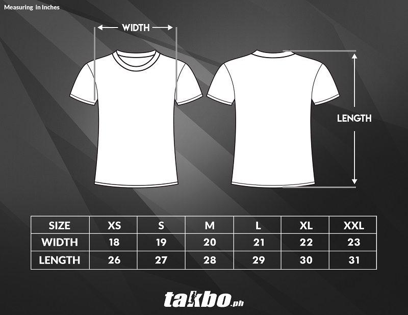 TakboPH VRun Size Chart