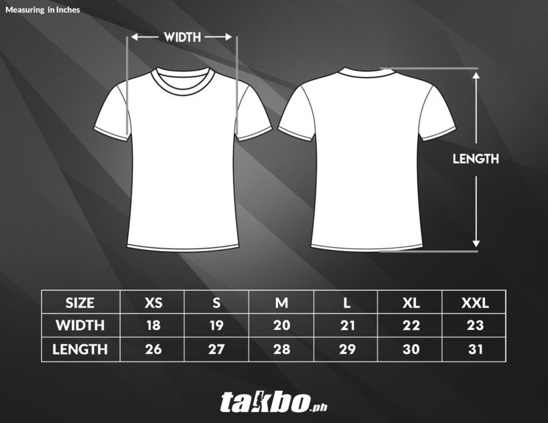 Sublimation Shirt Size