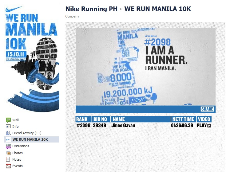 we ran manila 2011