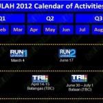 Unilab Run United 2012 Schedule – Three Legs + Marathon