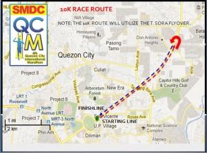 QCIM 2012 10km Route