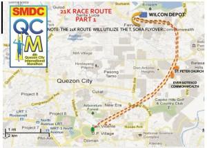 QCIM 2012 21km Route - 1