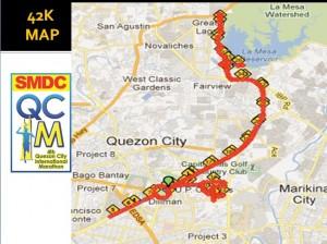QCIM 2012 42km Route