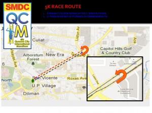 QCIM 2012 5km Route