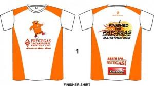 CDO Marathon 2012 Finisher Shirt