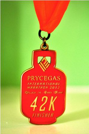 PryceGas Marathon 2012 Medal