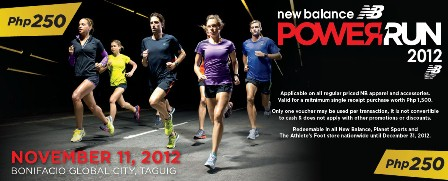 New Balance Power Run 2012 250 Apparel accessories voucher