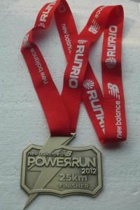 New Balance Power Run 2012 25K Finisher Medal