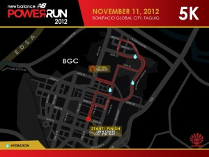 NB Power Run 2012 5K Race Route