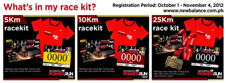 New Balance Power Run 2012 Vouchers Race Kit