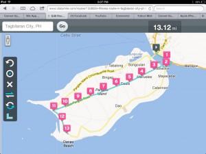 Bohol Marathon 2013 Race Route