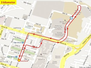 Ensure to Endure 2 3KM Race Route