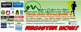 Mapawa Trail Run Challenge 2012