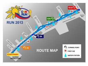 OFW Run 2013 ROUTE MAP