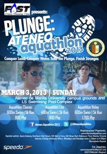 Plunge Ateneo Aquathlon 2013