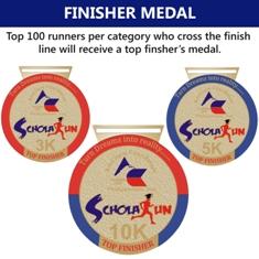 AmCham ScholaRUN 2013 Finishers Medal