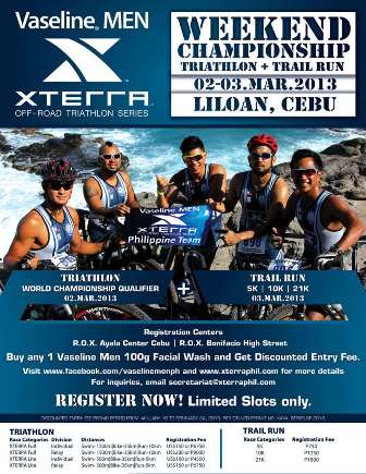 Vaseline Men Xterra Off Road Triathlon 2013