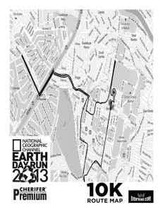 Earth Day Run 2013 10K Map