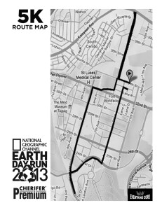 Earth Day Run 2013 5K Map