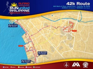 Run United Philippine Marathon 2013 Race Map