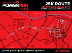 New Balance Power Run Race Map