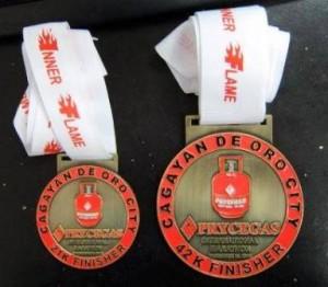 CDO PryceGas Marathon 2013 Medals