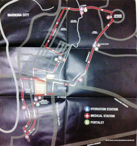Nike We Run Mnl 2013 Map