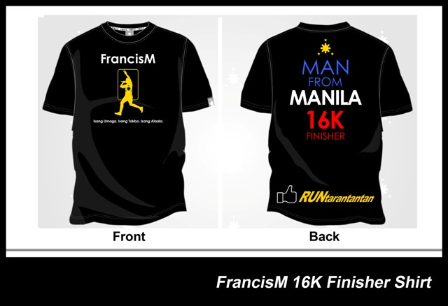 Francis Magalona Run 2014 Finisher Shirt