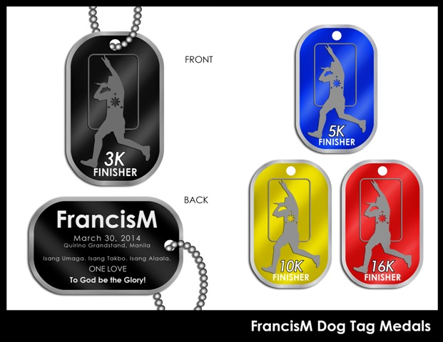 Francis Magalona Run 2014 Medal