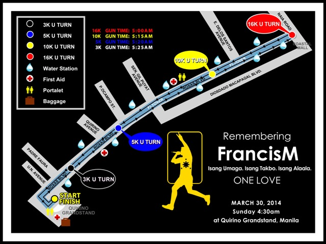 Francis Magalona Run 2014 Race Map