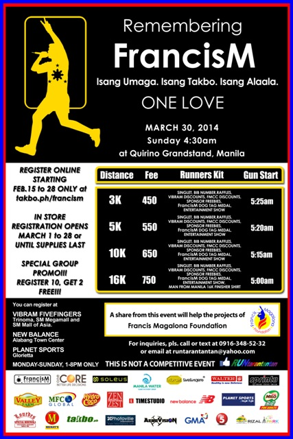 Francis Magalona Run 2014