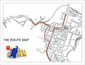 PSE Bull Run 2014 10K Race Map