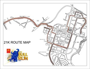 PSE Bull Run 2014 21K Race Map