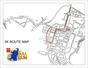PSE Bull Run 2014 5K Race Map