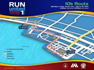 Run United 1 2014 10k Map