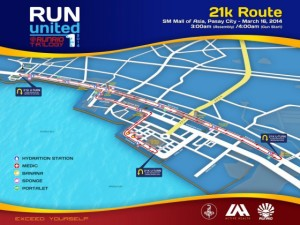 Run United 1 2014 21k Map
