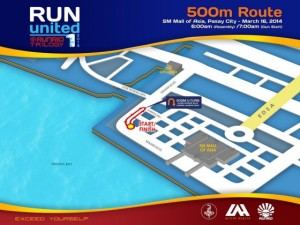 Run United 1 2014 500m Map
