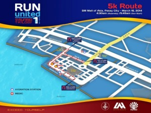 Run United 1 2014 5k Map