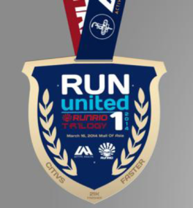 Run United 1 2014 Medal