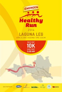 Energen Healthy Run 2014 Nuvali 10K Race Map