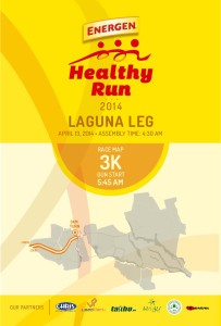 Energen Healthy Run 2014 Nuvali 3K Race Map