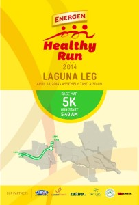 Energen Healthy Run 2014 Nuvali 5K Race Map