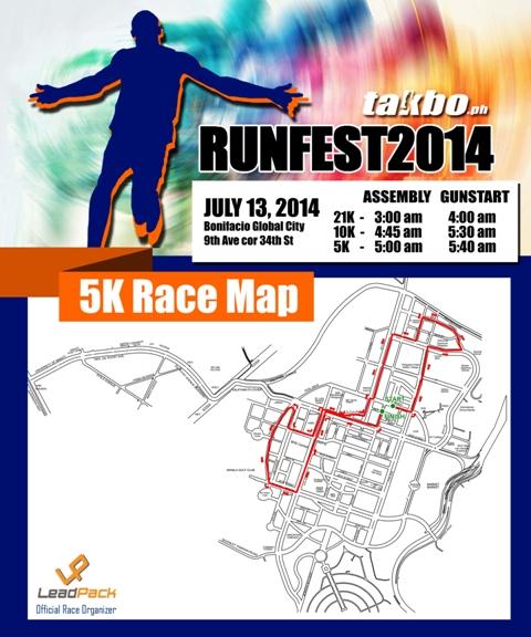 Runfest 2014 - 5k race map