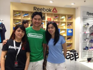 With Ms Villy of Reebok