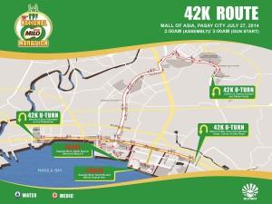 Milo Marathon 2014 Manila 42K Route Map
