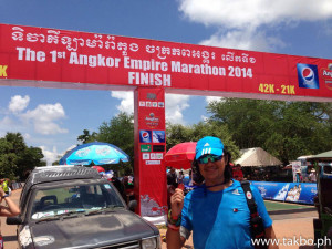Angkor Wat Marathon 2014 - Finish Line