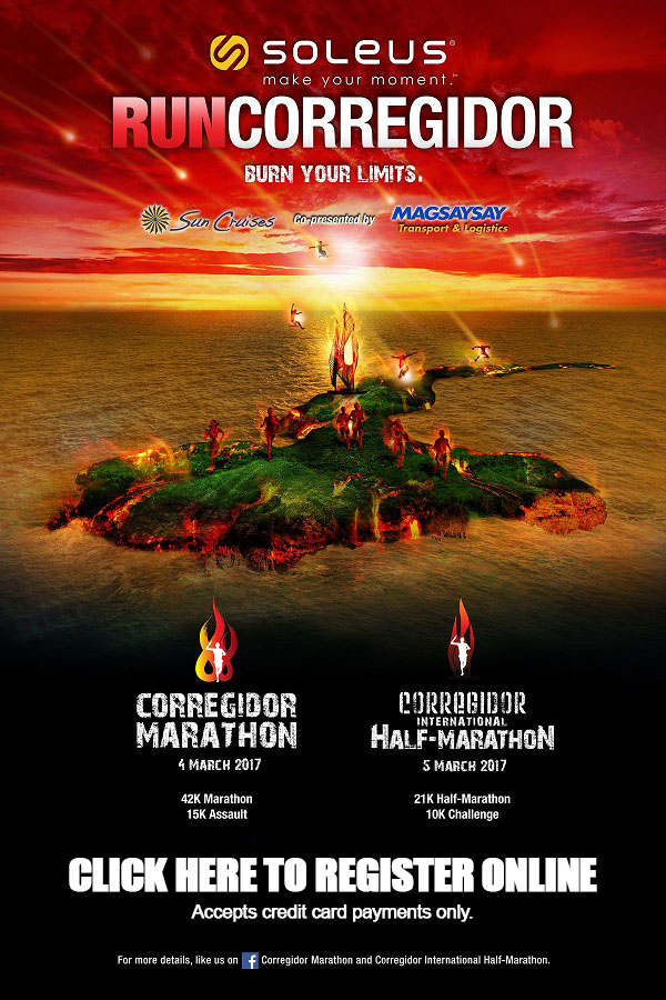 Corregidor Marathon 2017 Online Registration